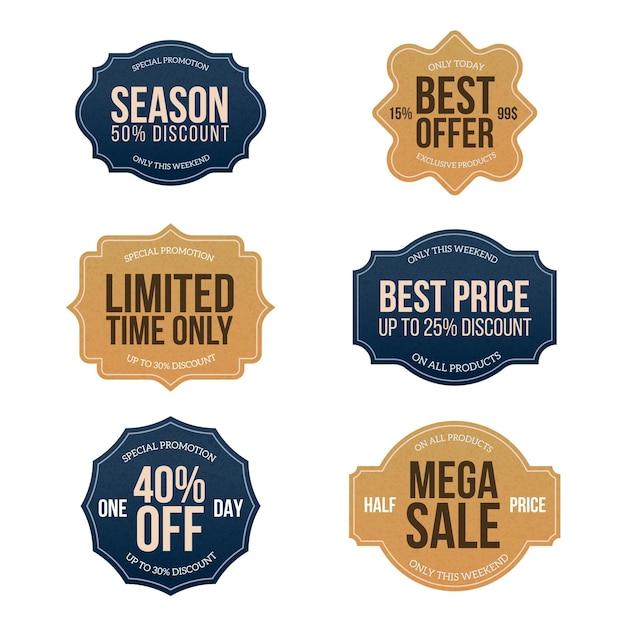 Коллекция винтажных распродаж Бесплатные векторы