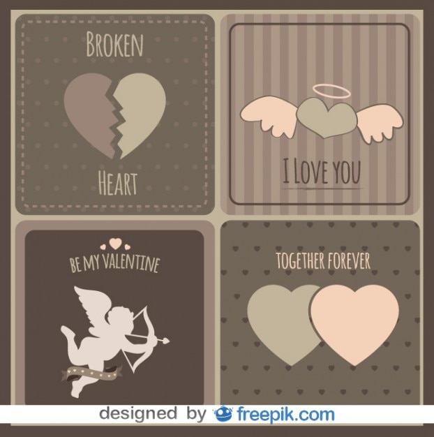 Vintage Love Cards Collection