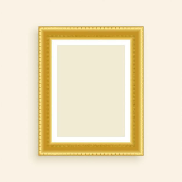 Vintage luxury golden photo frame Free Vector