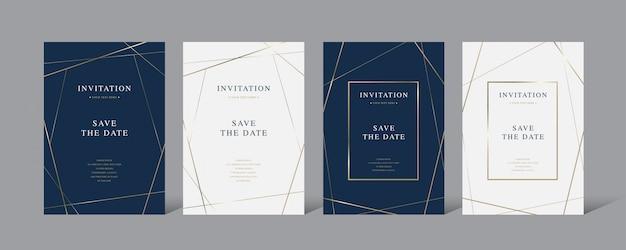 Vintage luxury invitation vector card Premium Vector