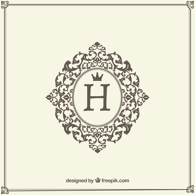 Vintage and luxury logo template Free Vector