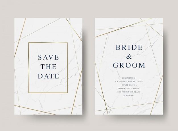 Vintage luxury  wedding invitation card Premium Vector