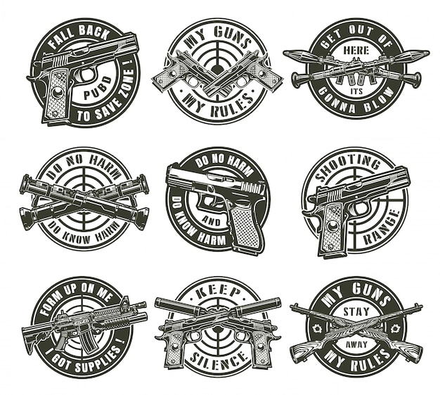 Vintage military labels Free Vector