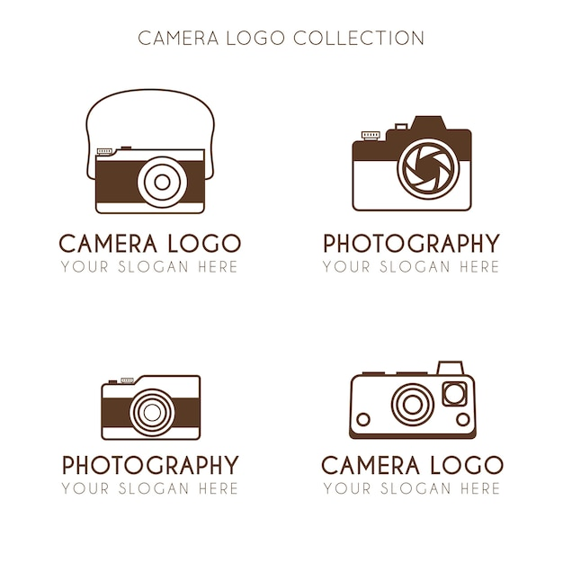 Vintage minimalist camera logo collection