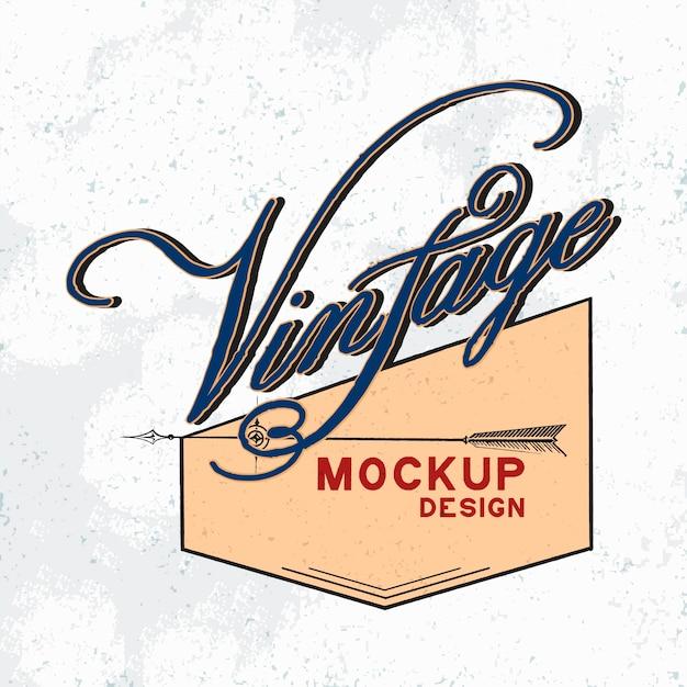 Vintage mockup logo design vector Free Vector