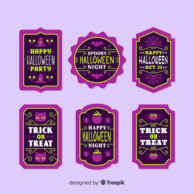 Vintage model for halloween label and badge Free Vector