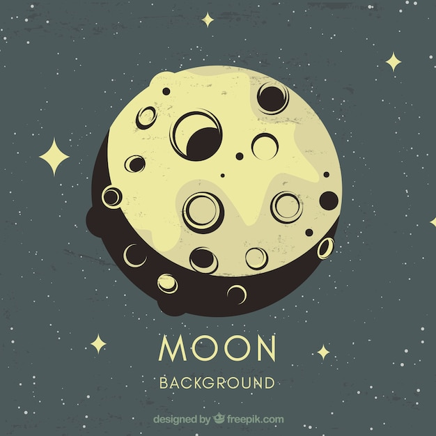 Vintage moon and stars background Vector | Free Download