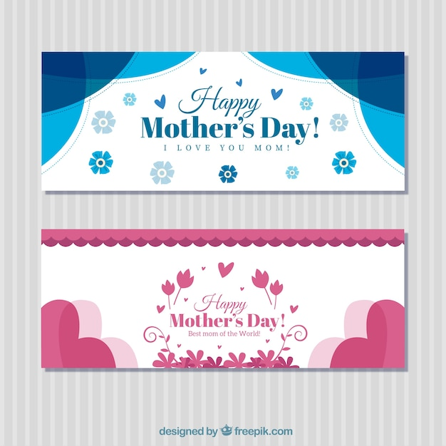 Vintage mother\'s day banners