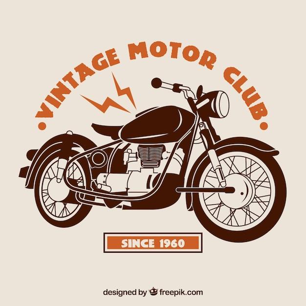 Vintage Motor Club Background Vector Free Download