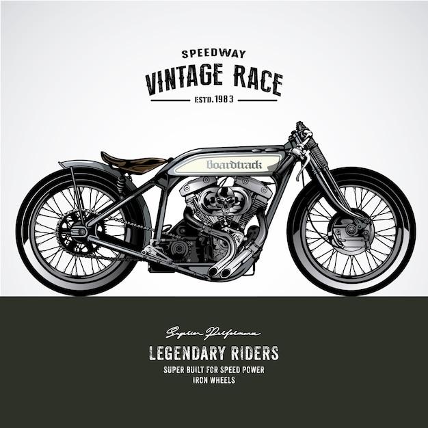 Vintage Motorbike Design Premium Vector