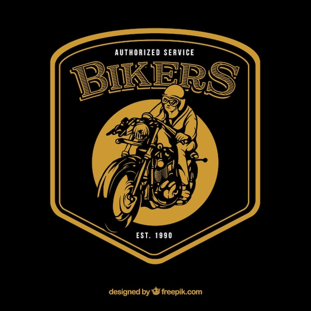 Vintage motorbike logo template Free Vector