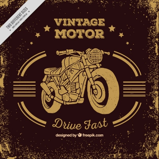 Vintage motorcycle background in sepia