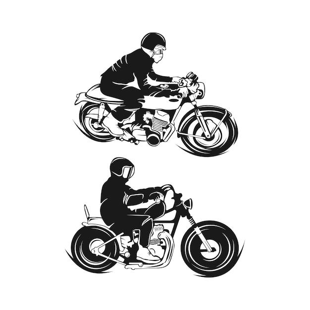 Винтажный мотоцикл инфографики. олдскульная велосипедная тема. векторная иллюстрация. eps 10 Premium векторы