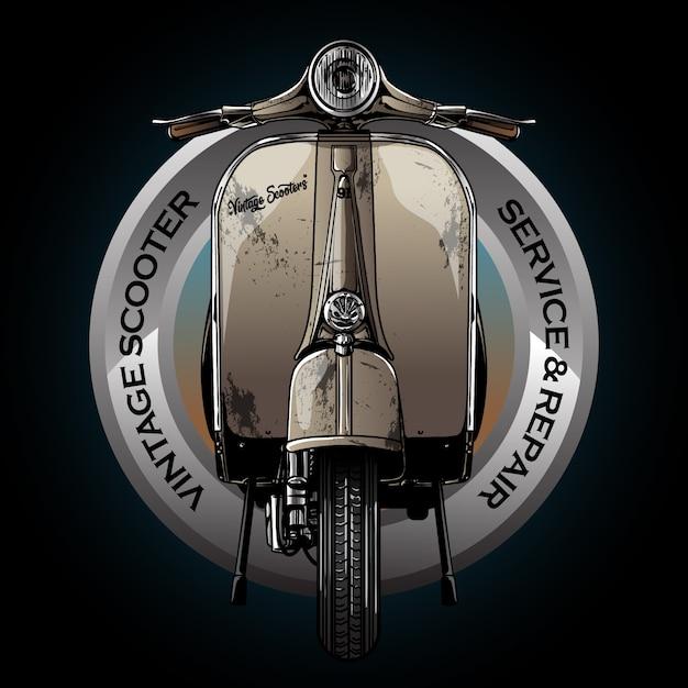 Vintage motorcycle logo Premium Vector