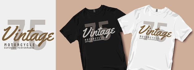Vintage motorcycle t-shirt designs slogan Premium Vector