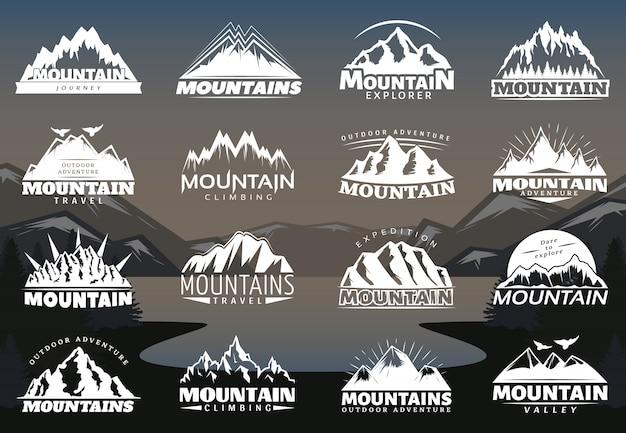 ヴィンテージ山脈のロゴタイプ 無料ベクター