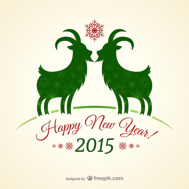 vintage new year card vector free download