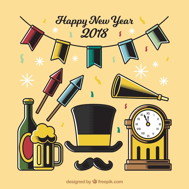 new year s clipart vintage
