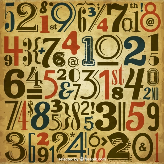 Vintage number background Vector | Free Download