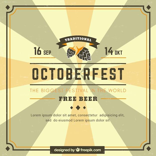 Vintage oktoberfest party poster