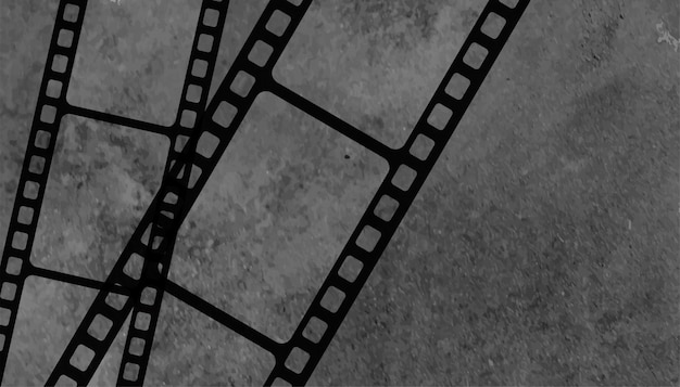 Vintage old film reel strip background Free Vector