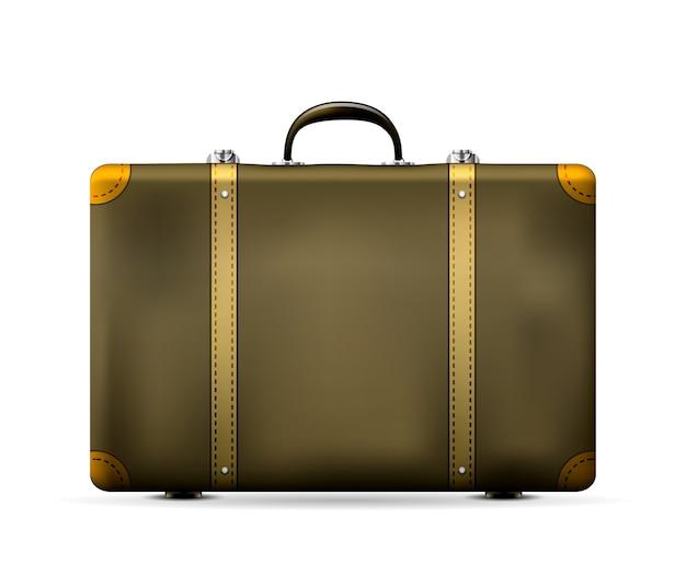 分離されたヴィンテージの古い旅行スーツケース 無料ベクター