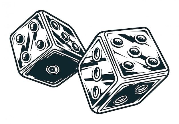 Vintage original dices concept Free Vector