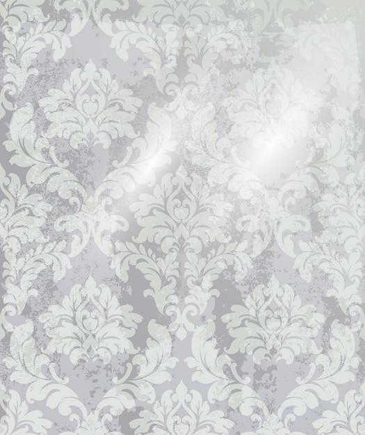 Vintage ornament background. baroque rococo texture luxury design. royal textile decors. Premium Vector