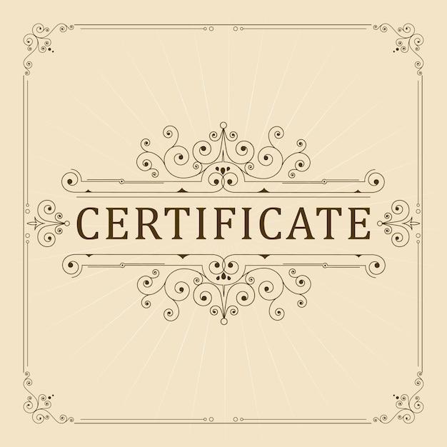 ヴィンテージ装飾証明書 Premiumベクター