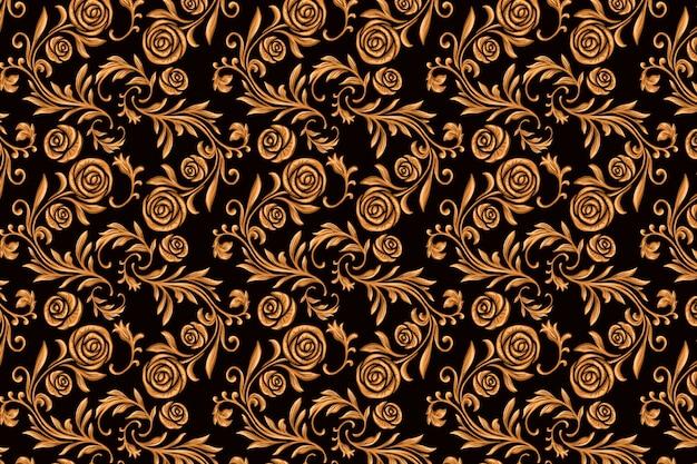 Vintage ornamental arabic floral background Free Vector