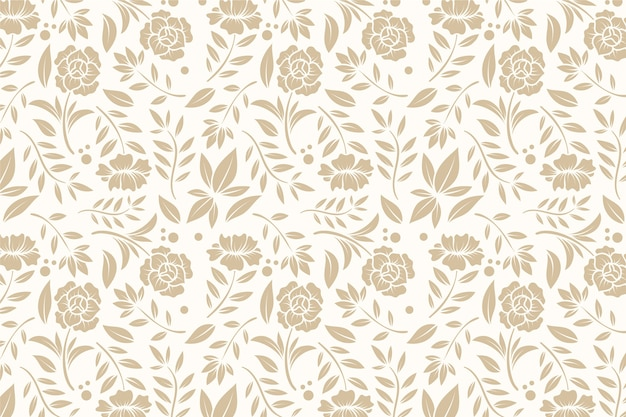 Vintage ornamental background with flowers Premium Vector