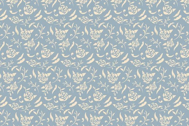 Vintage Ornamental Flowers Wallpaper Free Vector