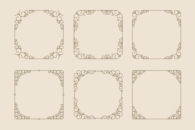 Vintage ornamental frame collection Free Vector