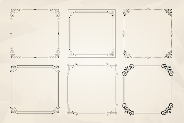 Vintage ornamental frame collection Free Vector