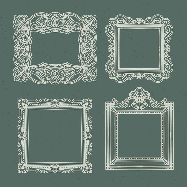 Винтажная рамка-орнамент Premium векторы