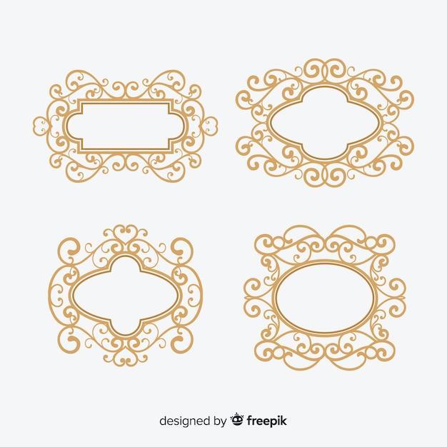 Vintage ornamental frame set Free Vector
