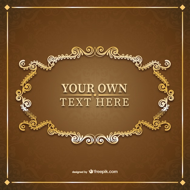 Vintage Ornamental Frame Template Free Vector