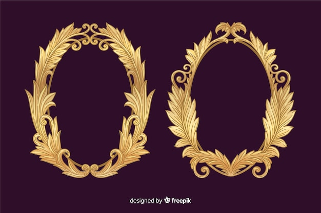 Vintage ornamental logo collection Free Vector