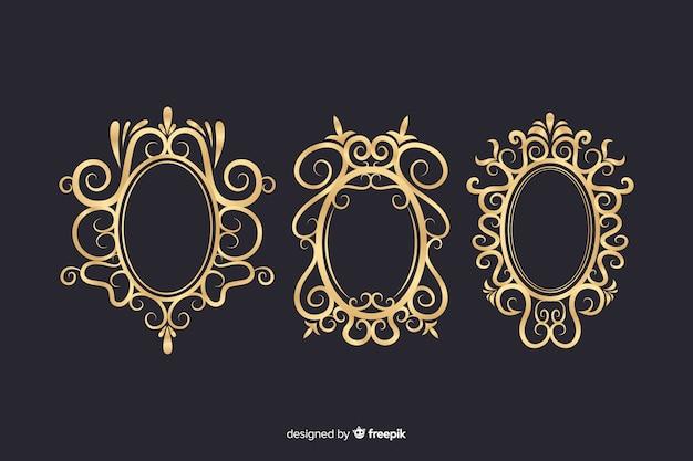 Vintage ornamental logos pack Free Vector