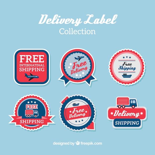Vintage pack of delivery labels