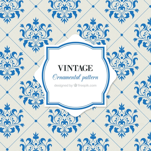 Was Ist Vintage vintage pattern of tiles with flowers vector free