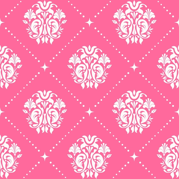 ピンク色のヴィンテージパターンのシームレスなバロック様式。 無料ベクター