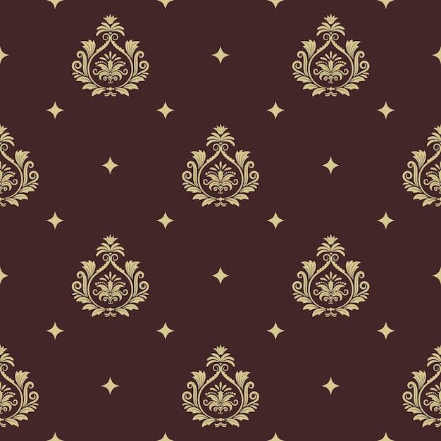 Stile barocco senza cuciture del modello vintage con elemento astratto. decorazioni di sfondo e Vettore gratuito