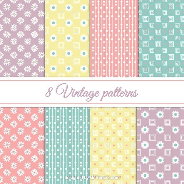 Vintage pastel pattern - photo#22