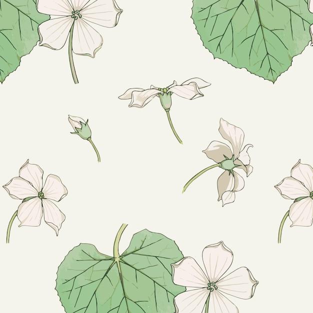 Vintage periwinkle flowers Free Vector