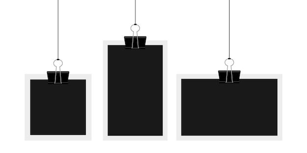 Винтажная фоторамка иллюстрация на фоне Premium векторы