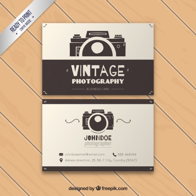 Vintage photography business card vector premium download vintage photography business card premium vector reheart Choice Image