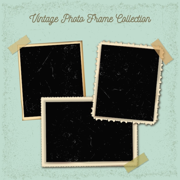 Vintage photography frames collection