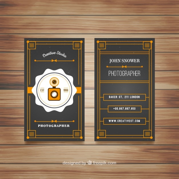 Vintage photography studio brochure Free Vector
