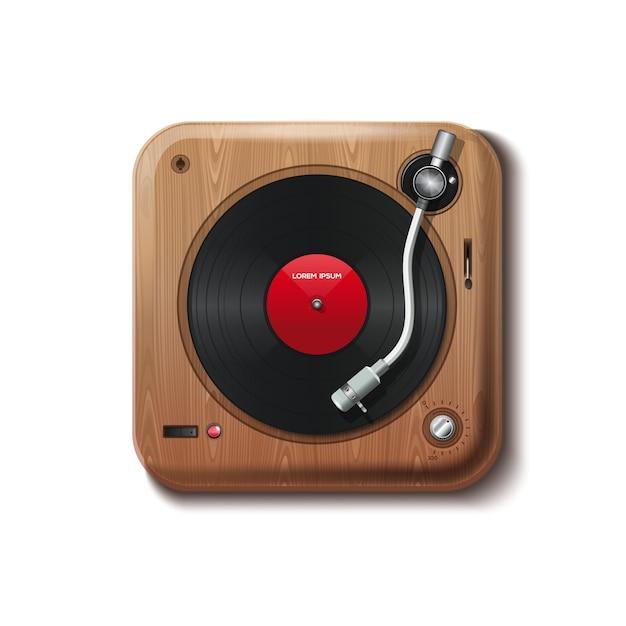 Vintage player vinyl. Premium Vector